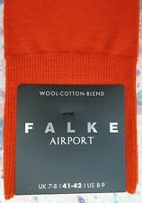 Falke Mens Wool Cotton Mix Socks Airport Brick Orange Size UK 7 -8 41-42 RRP £14