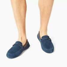 BNIB TED BAKER LONDON MEN'S BLUE SUEDE LEATHER LUXE SLIPPERS SHOES 8/42 RRP £99