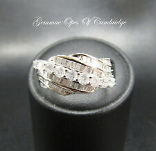 New 9ct White Gold 1ct Diamond Cluster Ring Size Q 3.2g with certification