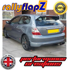 rallyflapZ HONDA CIVIC TYPE R EP3 (00-05)Mud Flaps Black Logo Silver/Red 4mm PVC