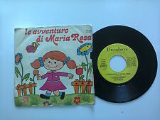 "Sabrina Mantovani/Le Avventure Di Maria Rosa -Disco Vinile 45Giri7"" StampaItalia"