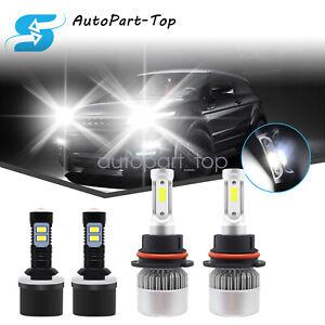 For Pontiac Grand Am 1999-2005 4PC 9007 880 Headlights Fog Light Bulbs White
