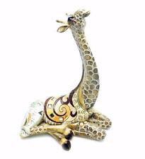 New Gold Giraffe Lying Statue Ornament Figurine 27cm 65981