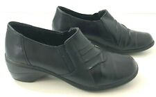 THOM MCan Diedre Womens 8.5M Shoes Black Leather Slip-On 40345