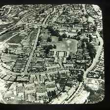 Vtg Keystone Magic Lantern Glass Slide Photo Welwyn Garden City England Aerial