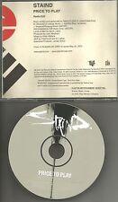 Aaron Lewis STAIND Price to play w/ RADIO EDIT PROMO DJ CD single MINT USA 2003