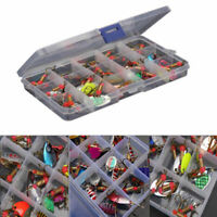 30x Metal Spinners Fishing Lures Sea Trout Pike Perch Salmon Bass Fishing Tackle