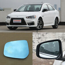 Rearview Mirror Blue Glasses LED Turn Signal with Heating For Mitsubishi Lancer