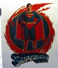 UNUSED 1970's Christopher Reeve Superman Movie vTg vs Batman DC t-shirt Iron-on