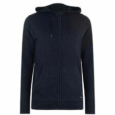 Firetrap Mens Full Zip Hoodie 100% Cotton Knit-Feel 2 Open Pockets Casual Top