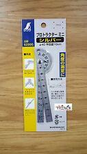 Shinwa 62995 Japanese Mini Protractor Rule Angle Finder Chrome Finish