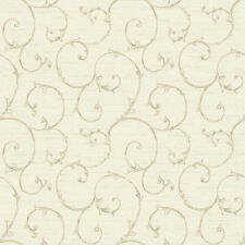 Nantucket Small Decorative Scroll Wallpaper in Parchment by York  NK2149
