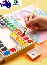 Marie's Watercolour Paint Set Pan Kit 18/24/36 Colours Palette Box with tools