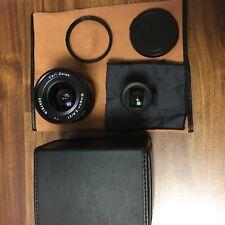 (Mint) Contax G21mm lens. Black