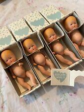"Lot 4 Vintage 1940's Kerr & Hinz K&H Model B 4"" Bisque Baby Doll Original Box"