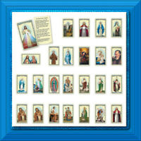 Holy Prayer Cards Lot of 25 of Our MOST POPULAR Jesus Mary Joseph Saints Mixed