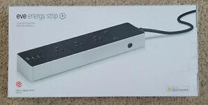 EVE Energy Strip Apple HomeKit Smart Home 3 Triple Outlet Power Meter BRAND NEW