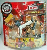 WWF WWE wrestling figure 2 pack Booker T Steve Austin Unchained Fury
