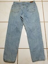 USA MADE LL Bean Relaxed Fit Denim Blue Jeans Pants 34x30 Work Wear Stains B1454