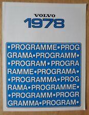 VOLVO RANGE 1978 UK Mkt Sales Brochure - 66 244 245 264 265