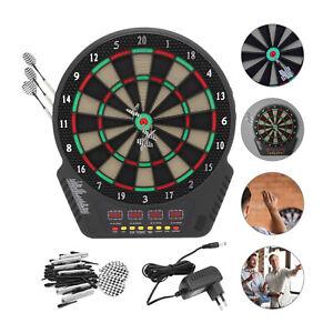 Elektronische Dartscheibe Dartboard 6 Pfeile Dartspiel Kinder Erwachsene Dart DE