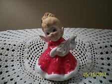 Vintage Lefton Christmas Angel Playing Instrument