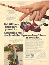 1970  SEARS SPINNING REEL MAGAZINE AD   TED WILLIAMS AND SEARS PROVED IT