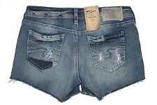"Silver Brand Berkley Short Faded Indigo Denim Shorts Sz 32"" L52806SJL243 NWT"