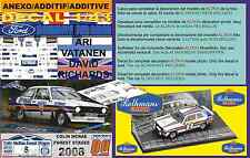 "ANEXO DECAL 1/43 FORD ESCORT ARI VATANEN ""COLIN MCRAE FOREST STAGES 2008"" (01)"