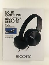 Sony MDR-ZX110NC Noise Canceling 95% On-ear Headphones MDRZX110NC Black 👍👍✅