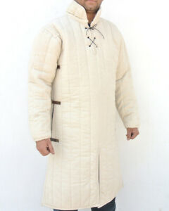 WHITE GAMBESON WITH REMOVABLE SLEEVES WHITE
