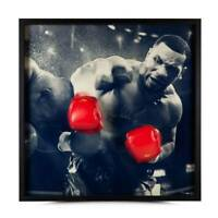 Mike Tyson Signed Boxing Glove Break Through Framed COA UDA Autograph Iron Photo