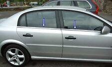 2002-2008 Vauxhall Opel VECTRA C Chrome Windows Frame Trim Cover 4pcs S.STEEL