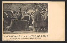 Italy 1899 Art Exhibition Venice postcard used to Hungary