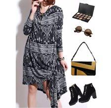 Polyester Paisley Midi Dresses for Women