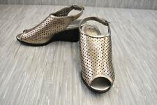 Bandolino Apela Wedge Sandals, Women's Size 9.5 M, Pewter NEW