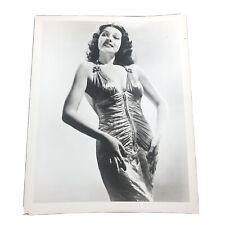 RITA HAYWORTH in STYLISH PORTRAIT Original 1940s STUNNING GLAMOUR Photo 8 x 10