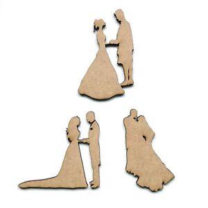 Wooden MDF Bride and Groom Embellishment Love Decoration Wedding Shape