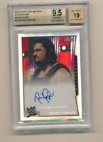 2014 Topps Chrome WWE Refractor Auto Roman Reigns Shield BGS 9.5 /50