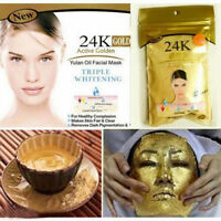 New 24K GOLD Active Face Mask Powder Anti-Aging Luxury Spa Treatment 50g