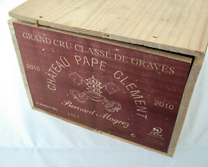 6x CHATEAU Pape Clement Magrez GCC de Graves 2010 red wine Rotwein OHK wood box