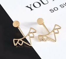 Urban Trend Gold Plated Crown Ear Jacket Cuff Earrings Circle Stud Spike Arrow