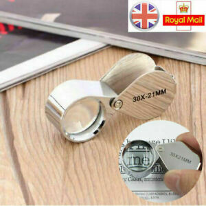 Jewellers Loupe Glass Jewellery Antiques Magnifier Hallmark Eye Lens 30 x 21mm