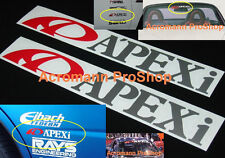 "2x 6"" 15.2cm APEXi APEX Decal Sticker JDM USDM for civic dc5 GTR N1 rx-7 gauge"