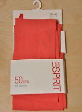ESPRIT 3/4 Leggings * Größe 38-40 * 50 DEN * Orange * mit 10% Elastan