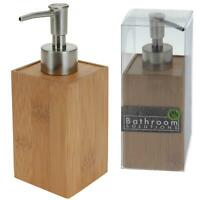 Série de Salles Bains Bambou Inox Distributeur Savon 17,5 x 6,5 X 6,5 cm Nature