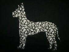 Great Dane Dog Skull Head Print figurine  on Shirt, Tee, T-Shirt,  Size Medium