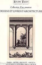 Catalogue vente Tajan Drouot Dessin & Livre ancien sur l'architecture