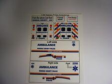Nassau County Police Ambulance 1:64 Water Slide Decals Fits GL Blank Ambulance