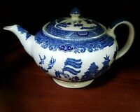 Johnson Brothers Blue Willow Teapot And Lid Vintage Made In England